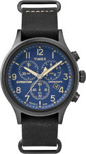 Timex TW4B04200, Men's Expedition Chronograph Leather Watch, Indiglo, Date
