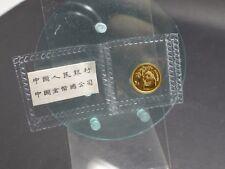 5 Yuan 1995 Panda Gold Originalhülle Schrift China