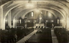 Quebec Church Interior Canadian Paper c1920s Real Photo Postcard WHERE?