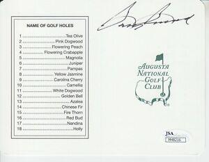 Sam Snead #5   Masters Scorecard  8x10 Signed W/JSA Certification -