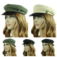 New French Round Bill Argyle Cadet Military Stretch Caps Hats One Size Fit Most