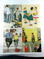 """4 Norman Rockwell At The Vets Doctors Runaway Check Up 1972 Litho Print 14""""x11"""""""
