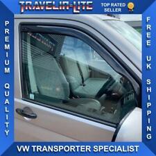 VW T5 T5.1 T6 Transporter Wind Deflectors Tinted Great Fit In Window Channel