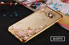 Clear Crystal Diamond Soft TPU Case Cover For iPhone Samsung A3 A5 A7 S8 Plus S9