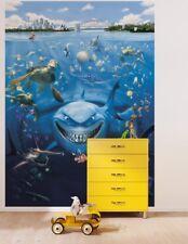 Blue Wallpaper for children's bedroom wall mural Finding Nemo Disney poster type