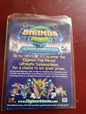 Digimon The Movie Promo- Sealed Card Pack new
