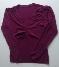 Maglione maglioncino donna, porpora vinaccia, tg unica, scollo con bottoncini