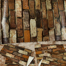 Deep Embossed 3D Brick Wall Paper Modern Vintage Brick Stone Pattern Wallpaper