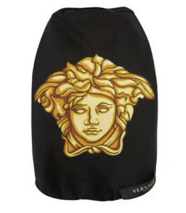 Versace Home Medusa Dog Black Gold T-Shirt Bnwt Sz XL