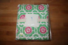 NEW 3PC POTTERY BARN KIDS VIVIAN TWIN SHEET SET NWT GREEN AND PINK