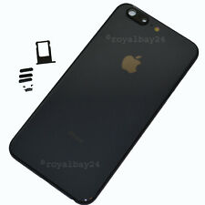 iPhone 6 Plus → 8 Plus Look Alu Rahmen Schwarz Gehäuse Rückseite Backcover NEU