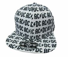 f4e022f7ee8 AC DC Logos All Over White Baseball Hat Cap New Official