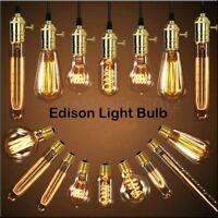 E27 E14 B22 Screw Lampadine Edison Vintage Lampada Filamento Luce Caldo NEW