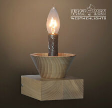 Retro Rustic Wooden Candle Dimmer Table Desk Lamp Bedroom Office Deco