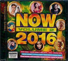 Now 2016 Volume 2 TWO CD NEW Justin Bibier Avicii Luvbug Jennifer Lopez Frances