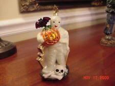 Christopher Radko Halloween Ornament~Mummy Holding Pumpkin