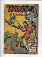 "WINGS COMICS #104 [1949 PR] ""FIREFLIES OF FURY!"""