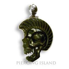 Vampir Skull Punk Totenkopf Amulett Anhänger Horn ECHT SILBER PB253