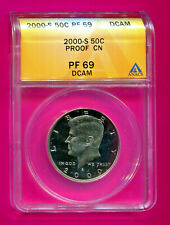 2000 S KENNEDY PROOF HALF DOLLAR ANACS PF 69 DCAM