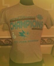 NHL San Jose Sharks Western Conference Champs T-Shirt Size Youth M