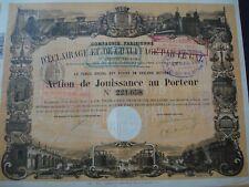 ACTION FRANCE COMPAGNIE PARISIENNE ECLAIRAGE PAR LE GAZ  1905