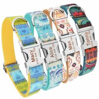 Personalized Dog Collar Nylon Puppy ID Name Engraved Small Medium Large Pets