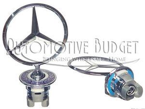 Genuine Mercedes Benz Standing Star Hood Emblem - NEW OEM