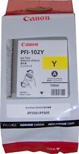 Canon PFI-102Y Dye Yellow Ink Tank 130ml (0898B001AA)