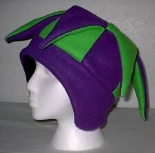NEW fleece jester snowboard hat- purple and green