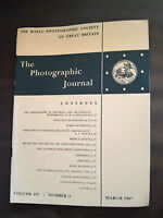 MAR 1967 THE PHOTOGRAPHIC JOURNAL (ROYAL PHOTOGRAPHIC SOCIETY OF GREAT BRITAIN)
