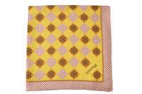 E. Marinella 100% Silk Scarves Tuch Schal Tissu  Jaune Soie   44x44