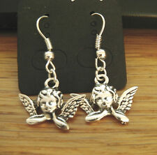 Handmade Tibetan Silver Cherub Angel Fairy Earrings Xmas Unwanted Gift