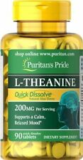 Puritans Pride Quick Dissolve L-Theanine 200mg/Serving 90 Tablets Mood Seratonin
