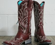 Lane Boots Saratoga Square Women's Western Cowgirl Boots Size 7.5