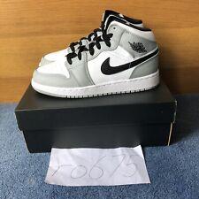 Nike Air Jordan 1 Mid Light Smoke Grey White GS UK 5 US 5.5 554725-092