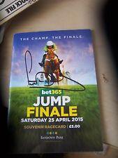 AP McCoy Signed Last Race Horse Racing Sandown Park Racecard 25th April 2015