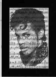PRINCE Vintage Art Print Upcycled Music Sheet