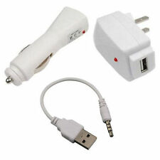 Usb Charging Cable+Car+Wall Adapter Charger iPod Shuffle 3 4 5 3rd 4th 5th Gen