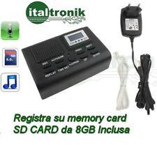 Registratore Telefonico Digitale Automatico su scheda SD 8GB inclusa