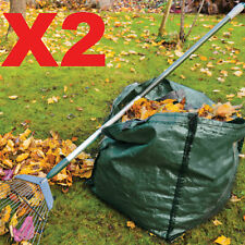 More details for 2 x 150l garden waste bags - heavy duty large refuse storage sacks with handles