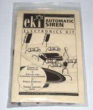 Vintage EKI - AUTO. SIREN electronic project UNBUILT science toy kit lab set NOS