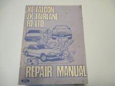 GENUINE FORD XE FALCON ZK FAIRLANE FD LTD REPAIR MANUAL WITH EFI