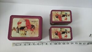 Vintage Ivory Soap Nesting Tins Advertisement Girl Busy Day Laundry Americana