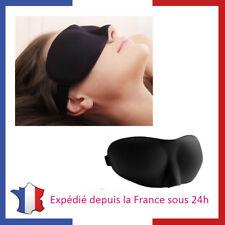 Masque de Nuit 3D Anti Lumière Sommeil Avion Voyage Cache Yeux Moelleux Doux