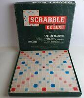 Scrabble Deluxe 1973 Spear's Games Turntable Board & Pegs De-Luxe 100% Complete