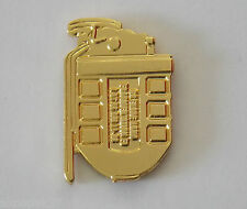 F1 GRENADE LAPEL BADGE GOLD PLATED 20MM HIGH WITH 1 PIN