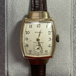 Benrus 14k Gold 17J Watch Model AR15