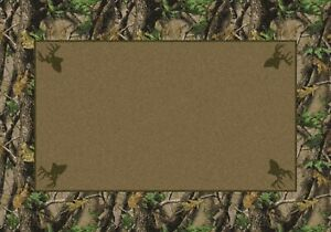 Milliken Realtree Collection Hardwood Green Solid Center Area Rug