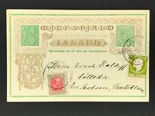Island Ganzsache mit Zusatzfrankatur nach Kölleda 1914?
