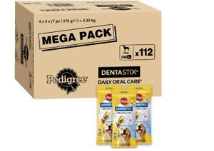 Treats Dental Dog Daily Large Chews Dentastix Care 25kg+ Sticks 112